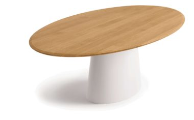 Conic dining table wooden top